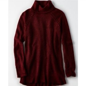 AE burgundy turtleneck
